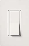 Lutron CA-1PSNL-WH Claro 15A Single Pole Switch with Locator Light in White