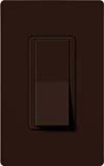 Lutron CA-4PSNL-BR Claro 15A 4-Way Switch with Locator Light in Brown