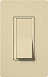 Lutron CA-4PSNL-IV Claro 15A 4-Way Switch with Locator Light in Ivory