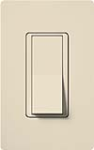 Lutron CA-4PSNL-LA Claro 15A 4-Way Switch with Locator Light in Light Almond