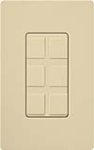 Lutron CA-6PF-IV Claro Field Customizable Multi Port Frame in Ivory