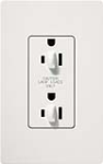 Lutron CAR-15-DFDU-WH Claro 15A Duplex Receptacle for Dimming Use in White