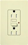 Lutron CAR-15-GFTR-AL Claro Tamper Resistant 15A GFCI Receptacle in Almond (Replaced by CAR-15-GFST-AL)