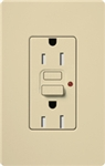 Lutron CAR-15-GFTR-IV Claro Tamper Resistant 15A GFCI Receptacle in Ivory (Replaced by CAR-15-GFST-IV)