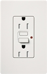 Lutron CAR-15-GFTR-WH Claro Tamper Resistant 15A GFCI Receptacle in White (Replaced by CAR-15-GFST-WH)