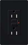 Lutron CAR-15-GFTRH-BL Claro Tamper Resistant 15A GFCI Receptacle in Black (Replaced by CAR-15-GFST-BL)