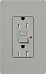 Lutron CAR-15-GFTRH-GR Claro Tamper Resistant 15A GFCI Receptacle in Gray (Replaced by CAR-15-GFST-GR)