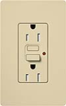 Lutron CAR-15-GFTRH-IV Claro Tamper Resistant 15A GFCI Receptacle in Ivory (Replaced by CAR-15-GFST-IV)