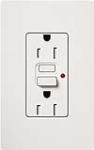 Lutron CAR-15-GFTRH-WH Claro Tamper Resistant 15A GFCI Receptacle in White (Replaced by CAR-15-GFST-WH)