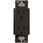 Lutron CARS-15-TR-BR Claro Tamper Resistant 15A Duplex Receptacle in Brown