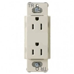Lutron CARS-15-TR-IV Claro Tamper Resistant 15A Duplex Receptacle in Ivory