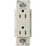 Lutron CARS-15-TR-LA Claro Tamper Resistant 15A Duplex Receptacle in Light Almond