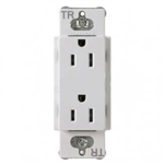 Lutron CARS-15-TR-WH Claro Tamper Resistant 15A Duplex Receptacle in White