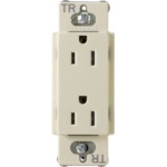 Lutron CARS-15-TRH-AL Claro Tamper Resistant 15A Duplex Receptacle in Almond