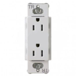 Lutron CARS-15-TRH-WH Claro Tamper Resistant 15A Duplex Receptacle in White