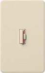 Lutron CN-10P-LA Ceana 1000W Incandescent / Halogen Single Pole Dimmer in Light Almond