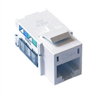 Lutron CON-1P-C5E-WH Connector, Telephone Jack, 8-conductor, RJ45 Category 5e in White