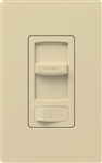 Lutron CT-600PH-IV Skylark Contour 600W Incandescent / Halogen Single Pole Preset Dimmer in Ivory