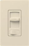 Lutron CT-600PH-LA Skylark Contour 600W Incandescent / Halogen Single Pole Preset Dimmer in Light Almond