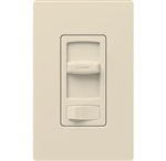 Lutron CTCL-153PH-LA Skylark Contour 600W Incandescent, 150W CFL or LED Single Pole / 3-Way Dimmer in Light Almond