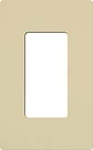 Lutron CW-1-IV Claro Screwless Wallplate 1 Gang in Ivory