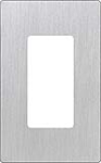 Lutron CW-1-SS Claro Screwless Wallplate 1 Gang in Stainless Steel