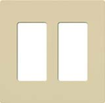 Lutron CW-2-IV Claro Screwless Wallplate 2 Gang in Ivory