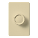 Lutron D-600RH-IV Rotary 600W Incandescent / Halogen Single Pole Rotate On-Off Dimmer in Ivory