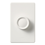 Lutron D-600RH-WH Rotary 600W Incandescent / Halogen Single Pole Rotate On-Off Dimmer in White