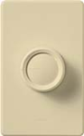 Lutron D-603P-IV Rotary 600W Incandescent / Halogen 3-Way Preset Dimmer in Ivory