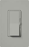 Lutron DV-600P-GR Diva 600W Incandescent / Halogen Single Pole Dimmer in Gray