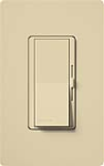 Lutron DV-600P-IV Diva 600W Incandescent / Halogen Single Pole Dimmer in Ivory