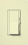 Lutron DV-603PGH-AL Diva 600W Incandescent / Halogen Single Pole / 3-Way Eco-Dimmer in Almond