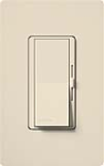 Lutron DV-603PGH-LA Diva 600W Incandescent / Halogen Single Pole / 3-Way Eco-Dimmer in Light Almond
