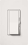 Lutron DV-603PGH-WH Diva 600W Incandescent / Halogen Single Pole / 3-Way Eco-Dimmer in White