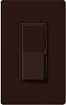 Lutron DVF-103P-277-BR Diva 277V / 6A Fluorescent 3-Wire / Hi-Lume LED Single Pole / 3-Way Dimmer in Brown