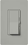 Lutron DVF-103P-277-GR Diva 277V / 6A Fluorescent 3-Wire / Hi-Lume LED Single Pole / 3-Way Dimmer in Gray