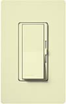 Lutron DVF-103P-AL Diva 120V / 8A Fluorescent 3-Wire / Hi-Lume LED Single Pole / 3-Way Dimmer in Almond
