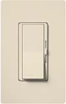 Lutron DVF-103P-LA Diva 120V / 8A Fluorescent 3-Wire / Hi-Lume LED Single Pole / 3-Way Dimmer in Light Almond