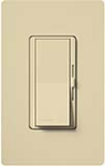 Lutron DVFTU-5A3P-IV Diva 120V / 5A Fluorescent Tu-Wire Single Pole / 3-Way Dimmer in Ivory