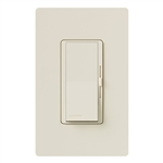 Lutron DVRP-253P-LA Diva 250W Dimmable LED or CFL, 500W Incandescent/Halogen, 500W ELVWith Halogen, Single Pole / 3-Way Reverse-Phase Dimmer in Light Almond