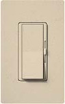 Lutron DVSC-10P-ST Diva Satin 1000W Incandescent / Halogen Single Pole Dimmer in Stone
