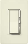 Lutron DVSC-600P-BI Diva Satin 600W Incandescent / Halogen Single Pole Dimmer in Biscuit