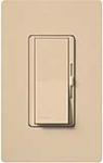 Lutron DVSCELV-300P-DS Diva Satin 300W Electronic Low Voltage Single Pole Dimmer in Desert Stone