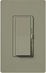 Lutron DVSCELV-300P-GB Diva Satin 300W Electronic Low Voltage Single Pole Dimmer in Greenbriar