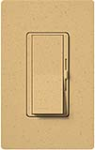 Lutron DVSCELV-300P-GS Diva Satin 300W Electronic Low Voltage Single Pole Dimmer in Goldstone