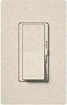 Lutron DVSCELV-300P-LS Diva Satin 300W Electronic Low Voltage Single Pole Dimmer in Limestone