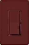 Lutron DVSCELV-300P-MR Diva Satin 300W Electronic Low Voltage Single Pole Dimmer in Merlot