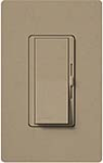 Lutron DVSCELV-300P-MS Diva Satin 300W Electronic Low Voltage Single Pole Dimmer in Mocha Stone