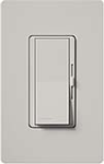 Lutron DVSCELV-300P-PD Diva Satin 300W Electronic Low Voltage Single Pole Dimmer in Palladium